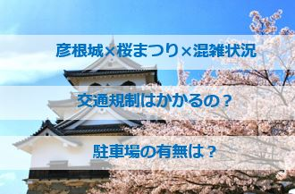 彦根城桜まつりの混雑状況!交通規制は?駐車場はあるのか?